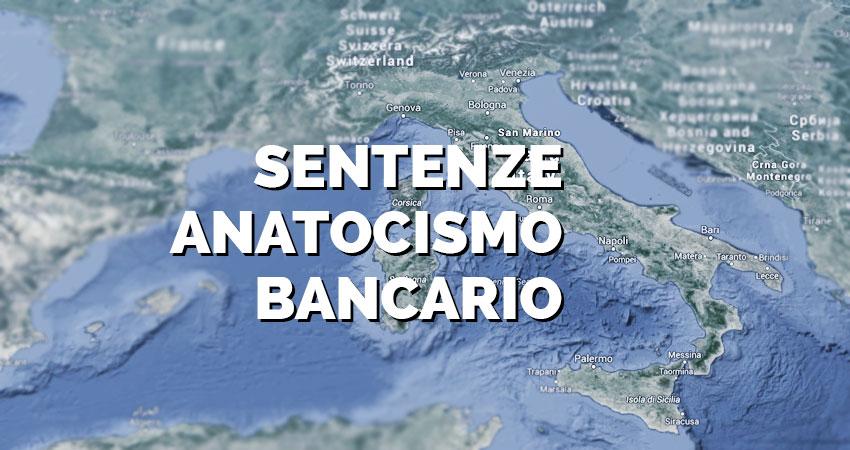 Raccolta Sentenze Anatocismo Bancario