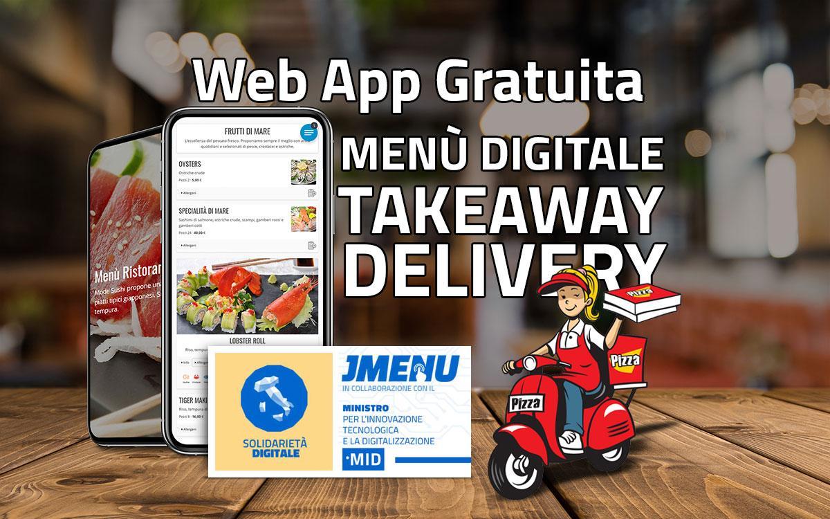 Tutto il settore della ristorazione da oggi ha uno strumento gratuito senza commissioni. JMENU